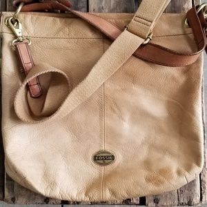 Fossil Tan Handbag
